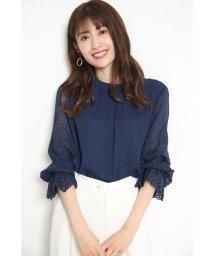 JUSGLITTY/袖刺繍楊柳ブラウス/502943751