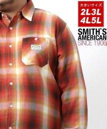 MARUKAWA/【SMITH'S AMERICAN】スミスアメリカン 大きいサイズ オンブレチェック ワークシャツ 春/502946414