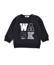 WASK/ロゴプリント裏毛トレーナー(110cm~130cm)/502948934