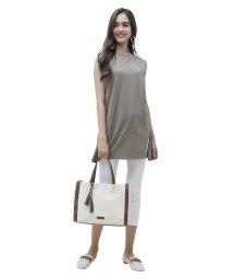 UNGRID bag/コットンデニムサイドパイピングトート/502969169