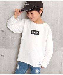 ANAP KIDS/バックプリントカットオフトレーナー/502973464