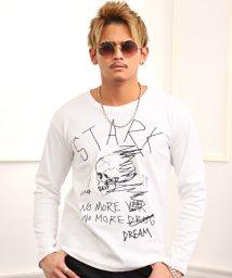 LUXSTYLE/落書きスカルセレブプリントロンT/Tシャツ メンズ ロンT クルーネック プリント BITTER ビター系/502974189