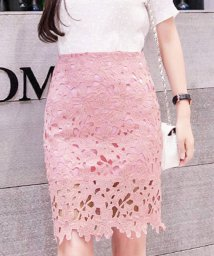 miniministore/レーススカート フォーマル 大人 可愛い スカート 花柄 膝上丈スカート 裏地付き 透け感 スカート ハイウエスト/502974218