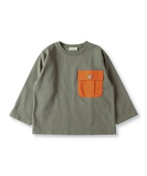 branshes/異素材ポケット付き長袖Tシャツ(80~150cm)/502975914