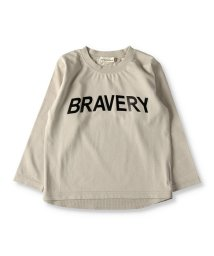 branshes/ロゴメタリックプリント長袖Tシャツ(80~150cm)/502975917