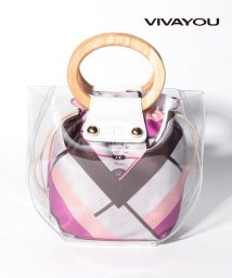 VIVA YOU(BAG&WALLET)/【VIVAYOU ビバユー】ウッドハンドルシースルーバッグ/502958279