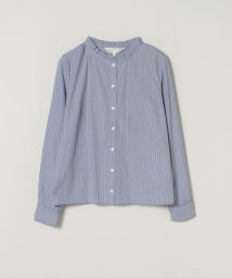 To b. by agnes b./WP25 CHEMISE ストライプフリルブラウス/502969623
