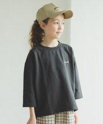 pairmanon/ミニ裏毛 スウェット 7分袖丈 ベーシックカラー 刺繍 ロゴ ビッグシルエット Tシャツ/502976029