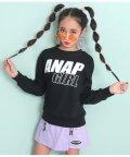 ANAP GiRL/バックロゴメッセージロングTシャツ/502977411