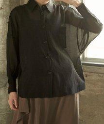 miette/オーバーサイズ台襟付きシアーシャツ/502977925