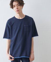 JUNRed/配色インレーポケットT/502978393