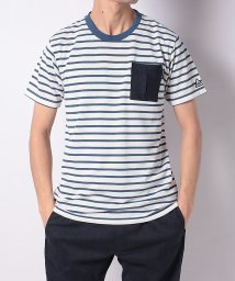 TARAS BOULBA/タラスブルバ/メンズ/ドライミックスデニム ボーダーポケットTシャツ/502979307