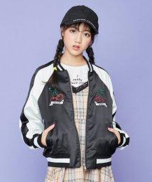 SISTER JENNI/チェリー刺繍サテンスカジャン/502979411