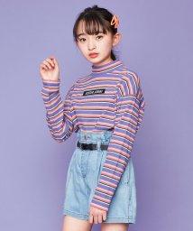 SISTER JENNI/マルチボーダーショート丈長袖Tシャツ/502979416
