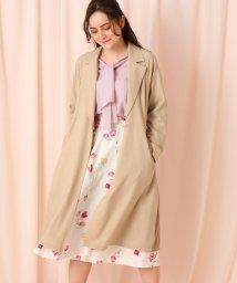 Couture Brooch/バックギャザースプリングコート/502979652