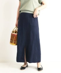 SLOBE IENA/リネン混サイドポケットタイトスカート◆/502979734