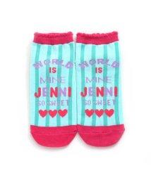JENNI love/パステルストライプショートソックス/502980056