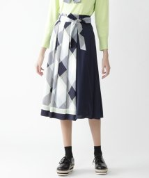 BLUE LABEL CRESTBRIDGE/クレストブリッジチェックスカーフプリントスカート/502980117