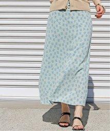 IENA/フロントボタンプリントスカート◆/502980158