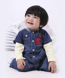 e-baby/ワッペン付きデニムツナギ/502902506