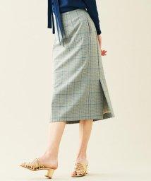 TOMORROWLAND collection/グレンチェックジャージー サイドスリットスカート/502980586