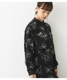 Avan Lily/LINE FLOWER バンドカラーシャツ/502980894