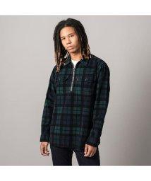 Levi's/JT ハーフジップワーカーシャツ AUGUST PRINTED PLAID MINERAL BLACK PRINT/502888774