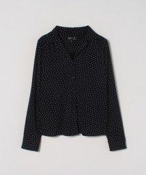 agnes b. FEMME/JDF9 CHEMISE ドットプリントオープンカラーシャツ/502946484