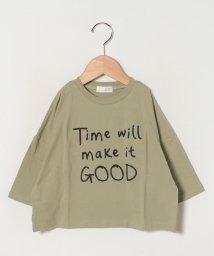 b-ROOM/刺しゅう入りビックシルエット7分袖Tシャツ/502961152