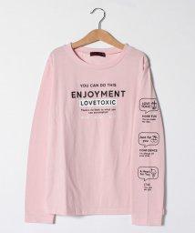 Lovetoxic/袖アイコンロゴプリントTシャツ/502963794