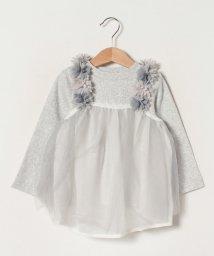 petit main/リブTシャツ×花シフォンキャミソールセット/502963830