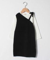 petit main/Tシャツ×ワンショルニットワンピースセット/502963831