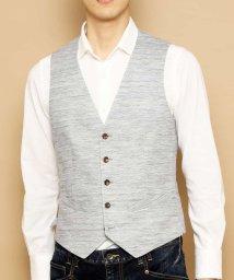MICHEL KLEIN HOMME/【洗える】ジレ(セオαラミーヘリンボン)/502981461