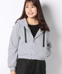 axes femme/刺繍ビジューショートパーカー/502967614