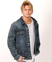 LUXSTYLE/デニムケミカルウォッシュジャケット/デニムジャケット メンズ Gジャン デニム ケミカル ウォッシュ加工/502979971