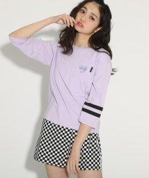 PINK-latte/【コットン100%】7分袖胸ポケット付きロンT/502982034