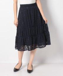 LANVIN en Bleu/カットジャカードギャザースカート/502892132
