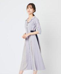 REDYAZEL/配色ダブルバックルシャツワンピース/502949086