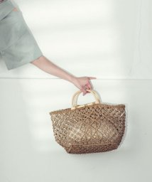 LIPSTAR/巾着付透かし編みカゴバッグ/502983509