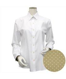 BRICKHOUSE/ウィメンズシャツ 長袖 形態安定 レギュラー衿 白×織柄(透け防止)/502983681