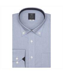 BRICKHOUSE/ワイシャツ 長袖 形態安定 ドゥエボットーニ ボタンダウン ブルー× 標準体/502983705