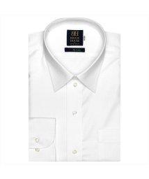BRICKHOUSE/ワイシャツ 長袖 形態安定 レギュラー 白×織柄 標準体/502983706
