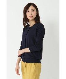 LBC/袖配色クルーカーディガン/502950760