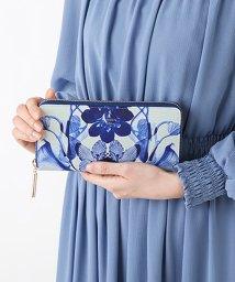 LANVIN en Bleu(BAG)/リュクサンブールブーケ ラウンドファスナー長財布/502971664