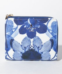 LANVIN en Bleu(BAG)/リュクサンブールブーケ Lファスナー2つ折り財布/502971665