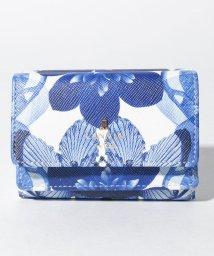 LANVIN en Bleu(BAG)/リュクサンブールブーケ 3つ折りミニ財布/502971666