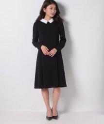 MISS J/【洗える】白襟×トリアセダブルクロス ドレス/502976353