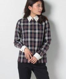 LAPINE BLEUE/【洗える】トラッドチェック クレリックシャツ/502976358