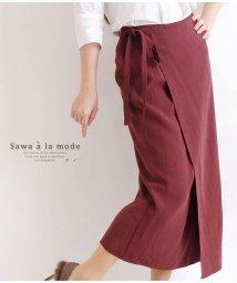Sawa a la mode/ミモレ丈のラップ巻タイトスカート/502984630