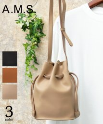 A.M.S./【A.M.S./エーエムエス】PUレザー巾着バッグ/ショルダーバッグ/502984708